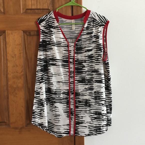 Plus Size Sleeveless Dress Shirt Size 3X